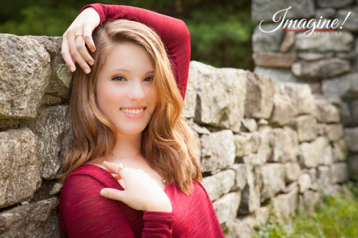 Bethany during her senior model outdoor photo session at Highland Lake Inn in Flat Rock, NC