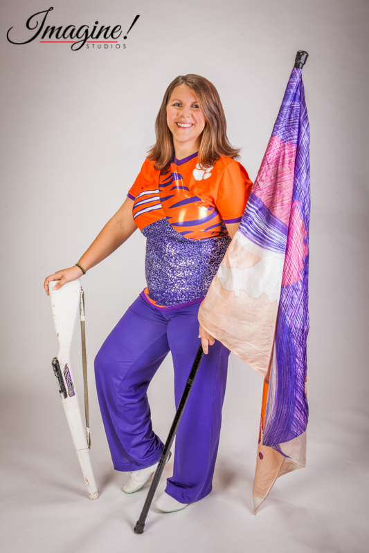 Amethyst happily displays her Clemson colors as a member of the Clemson Tiger Guard