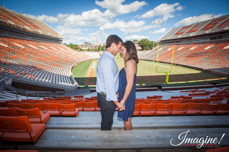 Hannah and Brad hold hands overlooking Death Valley at Clemson University